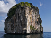 Large rock off Phi Phi Leh (Thailand - Asia) Stock Image