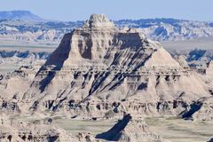 Large Rock Outcrop in Badlands South Dakota royalty free stock photos