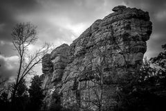 Large Rock. A large rock wall in Central Wisconsin stock image