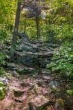 Large Rocks along AT Stock Photo