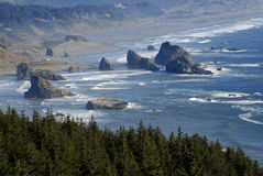 Large Rocks Along the Oregon Coast Stock Photography