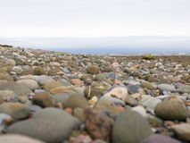 Large rocks on beach close-up Stock Photography