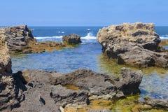 Large rocks at beauriful seaside Royalty Free Stock Photo