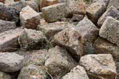 Large rocks on the island of Crete, Greece Royalty Free Stock Image