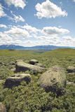 Large rocks and mountains in Centennial Valley near Lakeview, MT Royalty Free Stock Image