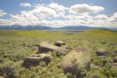 Large rocks and mountains in Centennial Valley near Lakeview, MT Stock Photography