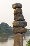 Large rocks stacked. Stock Images