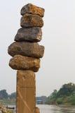 Large rocks stacked. Royalty Free Stock Image