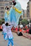 Large Rod Puppet Show on Lantern Festival Royalty Free Stock Photo