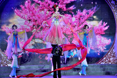 Large Rod Puppet Show on Lantern Festival Royalty Free Stock Image