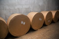 Large rolls of paper for printing royalty free stock photos
