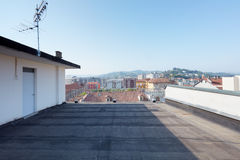 Large rooftop balcony royalty free stock images