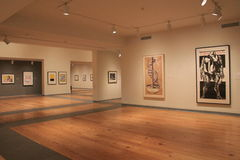 Large room with masterpieces hanging from walls, Portland Art Museum,Maine,2016. Beautiful, attractive room, with masterpieces hanging strategically from walls Stock Photography