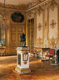 Large room, sculpture and chandelier at Versailles Palace Royalty Free Stock Image