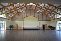 Large Room With Beam Ceiling Stock Image
