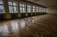 Free Large Room With Parquet In Barracks Stock Images - 92187534