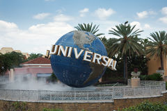 Large rotating Universal logo Stock Photos
