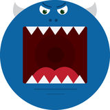 Monster Mouth Blue Stock Photo