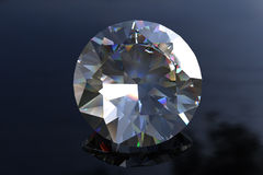 Large Round Euro Cut  Diamond Gemstone Stock Image