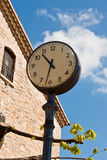 Large Round Exterior Clock Stock Photography
