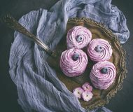 Large round marshmallow Royalty Free Stock Photo