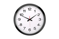 Large round office wall clock  isolated Stock Photography