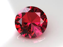 Large round rose sapphire - 3D Royalty Free Stock Image