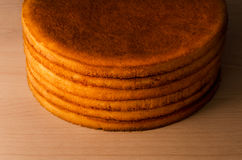 Large round shortcakes Royalty Free Stock Images