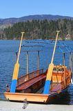 Large rowboat to transport passengers on Lake Bled in Slovenia Stock Images