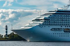 Large royal cruise liner Royalty Free Stock Image