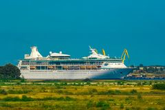 Large royal cruise liner. On the way. Travel and spa services Royalty Free Stock Image