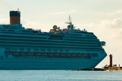 Large royal cruise liner. On the way. Travel and spa services Stock Photography