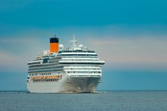Large royal cruise liner. On the way. Travel and spa services Stock Images