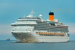 Large royal cruise liner. On the way. Travel and spa services Royalty Free Stock Images