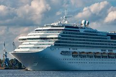 Large royal cruise liner. On the way. Travel and spa services Stock Image