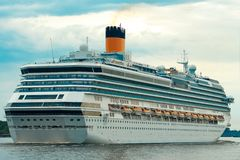 Large royal cruise liner Stock Photo