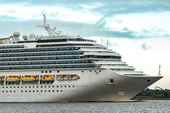 Large royal cruise liner Royalty Free Stock Images