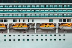 Large royal cruise liner. On the way. Travel and spa services Royalty Free Stock Photos