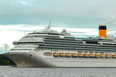 Large royal cruise liner. On the way. Travel and spa services Stock Photo
