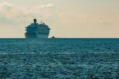 Large royal cruise liner. On the way. Travel and spa services Royalty Free Stock Photography