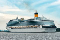 Large royal cruise liner. On the way. Travel and spa services Stock Photos