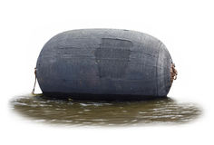 Large rubber buoy. stock photography