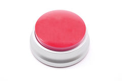 Large Ruby Red button ready for your text Royalty Free Stock Photo