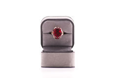 Large Ruby Stoned Ring Stock Photography