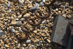 Large rusted metal cork screw Stock Images