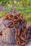 Large rusted old chain Royalty Free Stock Photography
