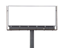 Large rusty billboard. Large blank billboard on a white background Royalty Free Stock Images