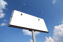 Large rusty billboard with two lanterns Stock Images