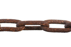 Large rusty chain. Stock Photos