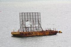 Large rusty docking platform Stock Photos